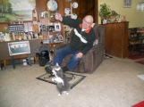 Daisy Mae playing with her Daddy.