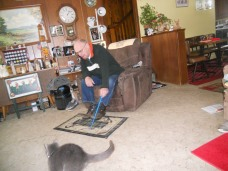 Daisy Mae Playing Pole With Her Daddy