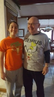 My Niece, Alyssa With Her Grandfather In Their Shirts They Got Each Other