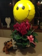 Get Well Flowers With A Smiley Balloon For My Niece, Kaitlin