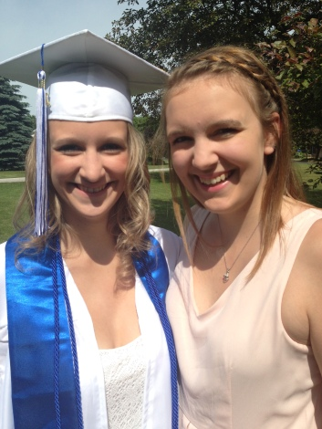 My Niece, Kaitlin On Her Graduation Day With Her Sister, Allison