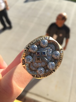 My Niece, Kaitlin Got To Try This Ring On When He Saw She Was A Steeler Fan And She Was At The Game With 2 Philadelphia Eagles Fans, Her Dad And Older Sister.