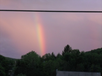 COLOURS OF A RAINBOW ON MEMORIAL DAY IN THE EVENING(5-29-2017)