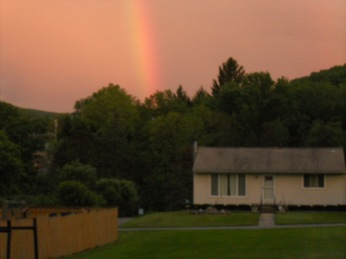 COLOURS OF A RAINBOW ON MEMORIAL DAY EVENING(5-29-2017)