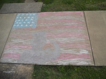 THANK YOU. CHALK DRAWING DONE BY MY NEPHEW.